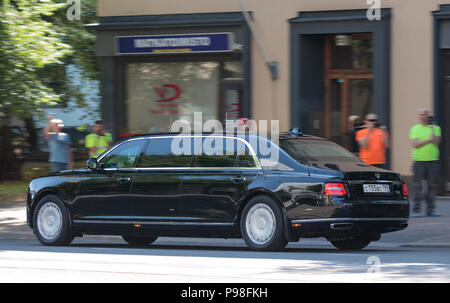 Helsinki, Finland. 16th July 2018. Limousine of President Vladimir Putin of the Russian Federation Credit: Hannu Mononen/Alamy Live News - Stock Photo