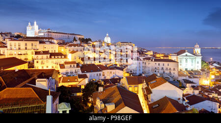 Portugal, Lisbon - Old city Alfama - Stock Photo