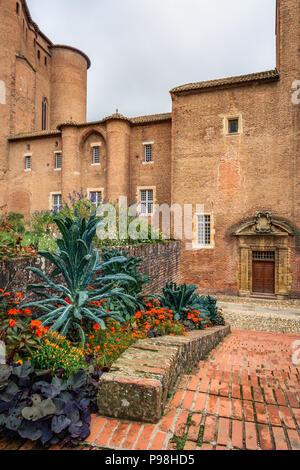 Palais de la Berbie, Albi, France. Home to the Museum of Henri de Toulouse-Lautrec - Stock Photo