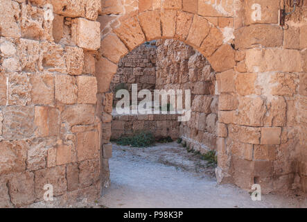 Old medieval castle passage like tower entrance or exit - Stock Photo