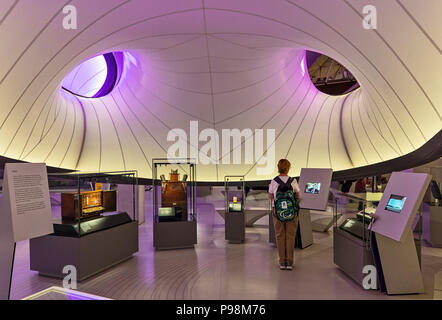 The Winton Mathematics Gallery at the Science Museum, London desogned by Zaha Hadid Architects - Stock Photo