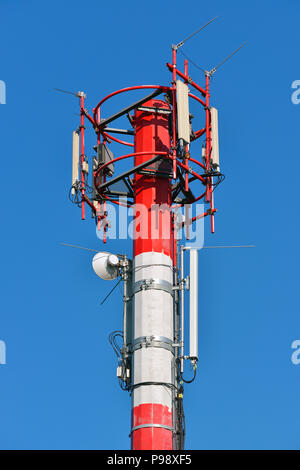 Mobile Phone Mast, Communications Tower - Stock Photo