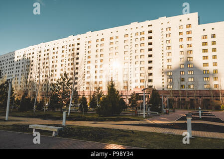 View to house of ministries in Astana, Kazakhstan - Stock Photo