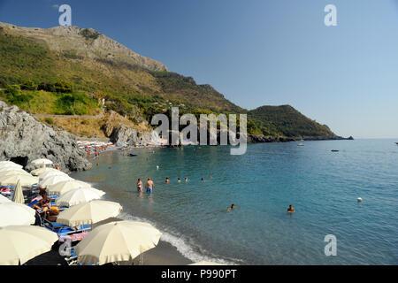 italy, basilicata, maratea, santa teresa beach - Stock Photo