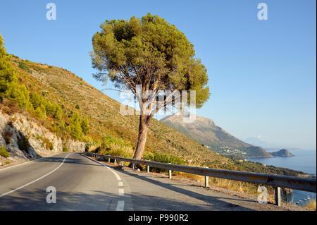italy, basilicata, maratea, coast road - Stock Photo