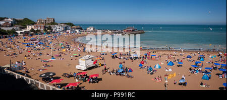 The beach at Viking Bay Broadstairs Thanet Kent UK - Stock Photo