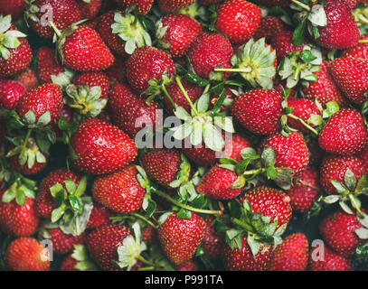 Fresh strawberry texture, wallpaper and background - Stock Photo