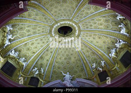 Europe. Italy,Rome,church s. Andrea al Quirinale. Dome and baroque sculptures - Stock Photo
