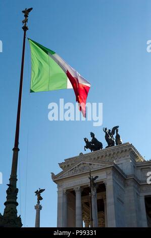 Europe. Italy,Rome,Vittorio Emanuele II National Monument,better known as Vittoriano,Mole del Vittoriano,Altare della Patria. - Stock Photo