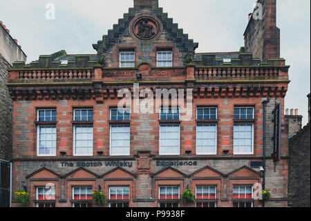 Front facade of The Scotch Whiskey Experience on Royal Mile, touristic street of Old Town Edinburgh City in Scotland, UK - Stock Photo