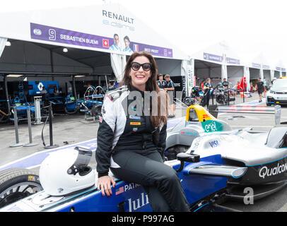 New York, NY - July 15, 2018: Actress Liv Tyler visits Formula E NYC ePrix championship in Red Hook - Stock Photo
