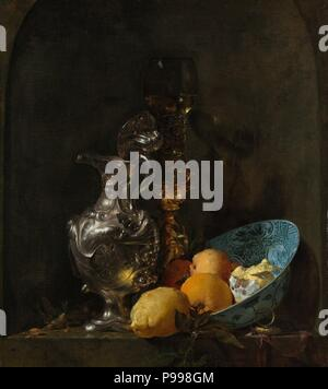 Still Life with Silver Jug. Museum: Rijksmuseum, Amsterdam. - Stock Photo