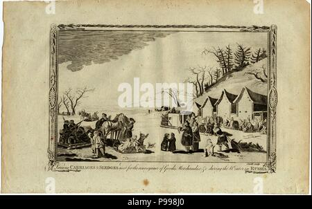 Carriages and sledges during the Winter in Russia. Museum: PRIVATE COLLECTION. - Stock Photo