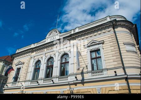 The Academia Philharmonicorum in the city of Ljubljana, Slovenia. - Stock Photo