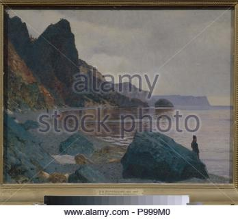 Near the St. George Monastery. Crimea. Museum: State Russian Museum, St. Petersburg. - Stock Photo