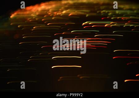 abstract color background with light trails. long exposure effects. - Stock Photo