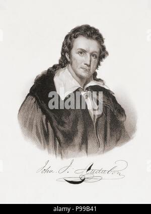 John James Audubon, 1785-1851.  American ornithologist, artist and naturalist. - Stock Photo