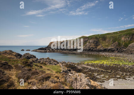Portamaggie near Portpatrick in Dumfries and Galloway, Scotland - Stock Photo