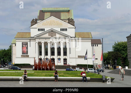 Germany, North Rhine-Westphalia downtown Duisburg - Stock Photo
