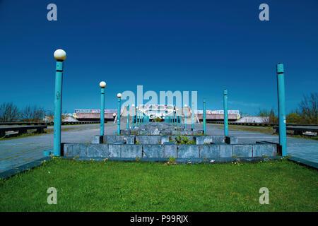 Linnahall, architecture of soviet era in Tallin, Estonia - Stock Photo