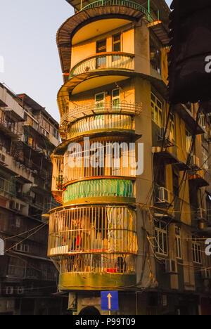 Chinese building in Macau - Stock Photo