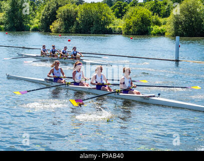 Rowing, Racing, Regatta, Henley-on-Thames, Oxfordshire, England, UK, GB. - Stock Photo