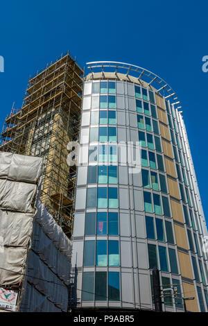 The Hotel Indigo building under construction, Manchester, England, UK - Stock Photo