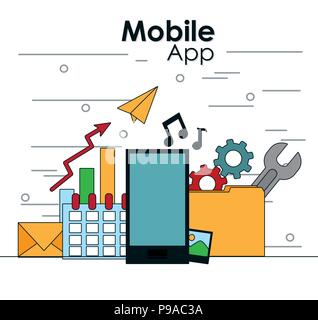 Mobile app technology - Stock Photo