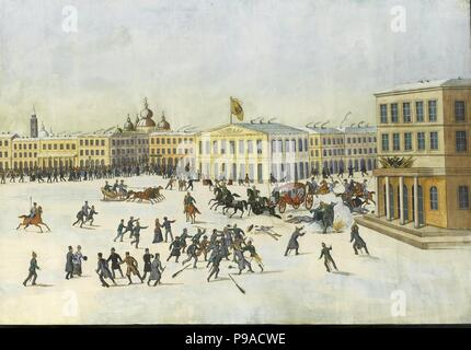 The Assassination of Alexander II on 13 March 1881. Museum: PRIVATE COLLECTION. - Stock Photo