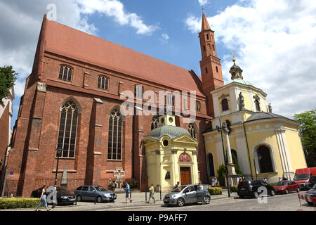 Church of St Vincent and St James on Cathedral Island Wroclaw, Silesia, Poland, Europe 2018 - Stock Photo