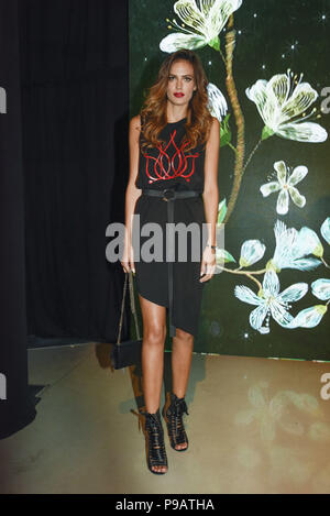Miami Beach, Florida, USA. 16th July, 2018. A model poses at Miami Swim Week powered by Art Hearts Fashion Swim/Resort 2018/19 at Faena Forum. Credit: Wonwoo Lee/ZUMA Wire/Alamy Live News - Stock Photo