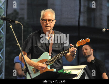Brno, Czech Republic. 16th July, 2018. American guitarist Bill Frisell performs within Bohemia Jazz Fest in Brno, Czech Republic, July 16, 2018. Credit: Igor Zehl/CTK Photo/Alamy Live News - Stock Photo