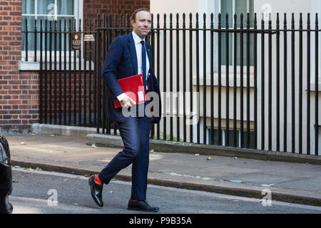 London, UK. 17th July, 2018. Matt Hancock MP, Secretary of State for Health and Social Care, arrives at 10 Downing Street for the final Cabinet meeting before the summer recess. Credit: Mark Kerrison/Alamy Live News - Stock Photo