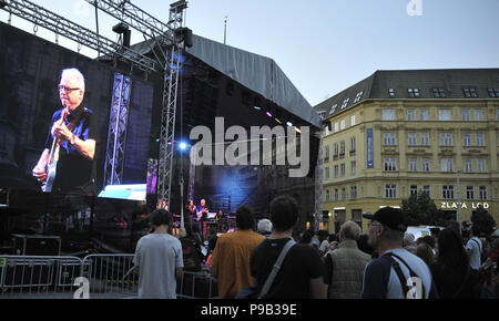 Brno, Czech Republic. 16th July, 2018. Concert of Bill Frisell within Bohemia Jazz Fest in Brno, Czech Republic, July 16, 2018. Credit: Igor Zehl/CTK Photo/Alamy Live News - Stock Photo