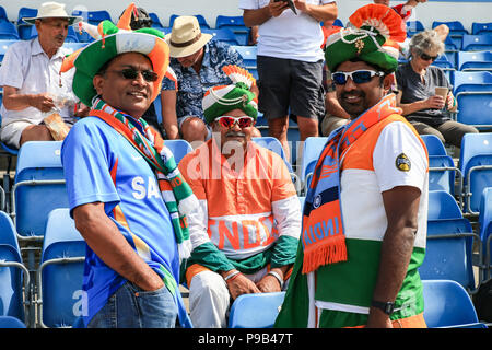 Emerald Headingley, Leeds, UK. 17th July 2018. Emerald Headingley, Leeds, 3rd ODI Royal London One-Day Series, England v India; fans in the crowd Credit: News Images /Alamy Live News - Stock Photo