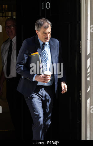 London, UK. 17th July, 2018. Julian Smith MP, Chief Whip, leaves 10 Downing Street following the final Cabinet meeting before the summer recess. Credit: Mark Kerrison/Alamy Live News - Stock Photo