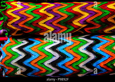 Texture two textile colored canvas - Stock Photo