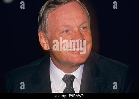 NEIL ARMSTRONG (1930-2012) American astronaut about 1990 - Stock Photo