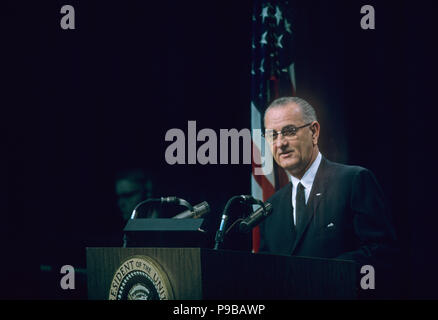 LYNDON B. JOHNSON (1908-1973) as 36th President of the United States about 1964 - Stock Photo