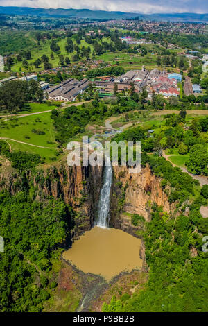 Howick, South Africa, October 19, 2012, Aerial View of Howick Falls in KwaZulu-Natal South Africa - Stock Photo
