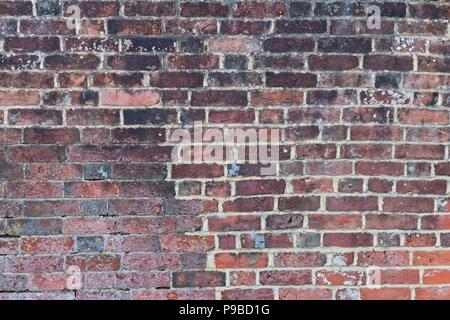 Old Red Brick Wall Texture or Background - Stock Photo