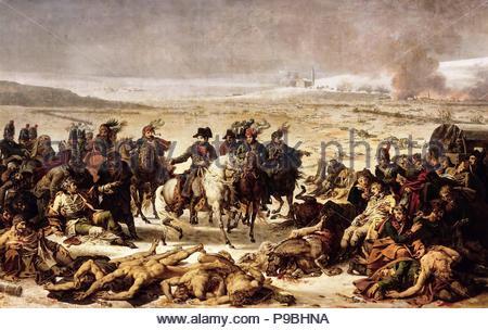 Napoleon on the Battlefield of Eylau, 9 February 1807. Museum: Musée de l'Histoire de France, Château de Versailles. - Stock Photo