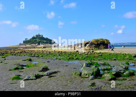 St Michael's Mount,Karrek Loos yn Koos,Marazion,Cornwall,England,uk - Stock Photo