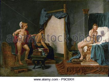 Apelles Painting Campaspe in the Presence of Alexander the Great. Museum: Musée des Beaux-Arts, Lille. - Stock Photo