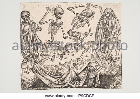 Dance of Death (from the Schedel's Chronicle of the World). Museum: Universalmuseum Joanneum. - Stock Photo