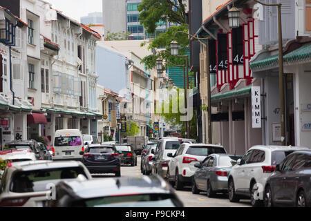 Shophouses in Singapore - Stock Photo