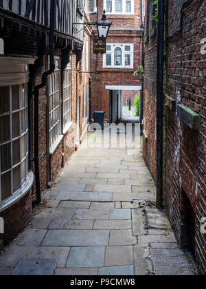 Lady Pecketts Yard one of the many snickleways in the City of York Yorkshire England - Stock Photo