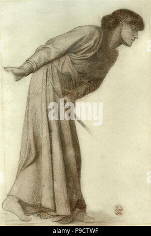 Rossetti  Dante Gabriel - Dante's Dream at the Time of the Death of Beatrice 2 4 (Study for the Figure of Love) - Stock Photo