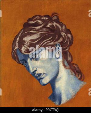 Rossetti  Dante Gabriel - Dante's Dream at the Time of the Death of Beatrice 2 6 (Study) - Stock Photo