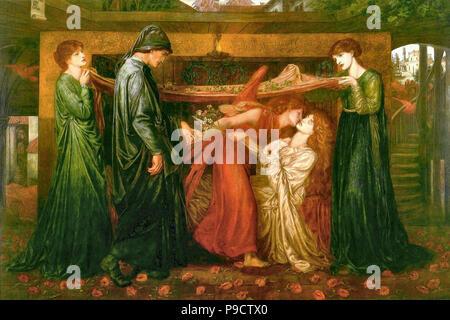 Rossetti  Dante Gabriel - Dante's Dream at the Time of the Death of Beatrice 3 1 - Stock Photo